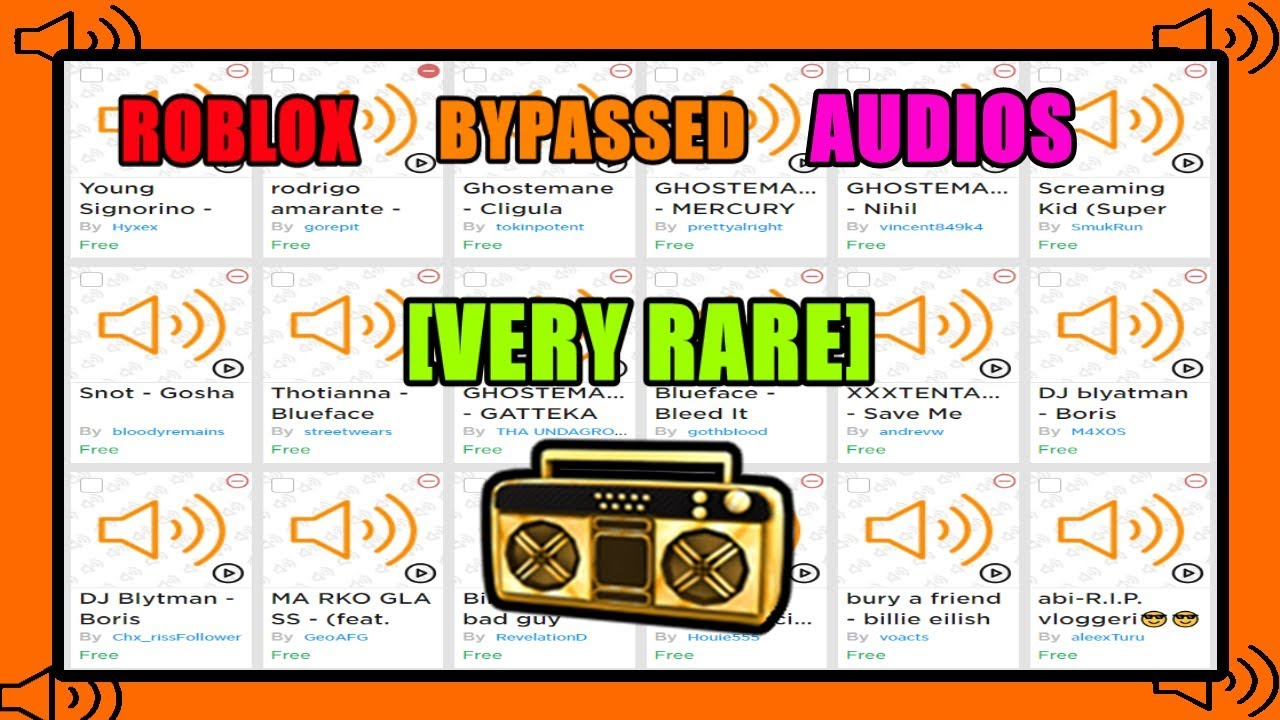 Roblox Bypassed Audios [VERY RARE] 2019 - YouTube