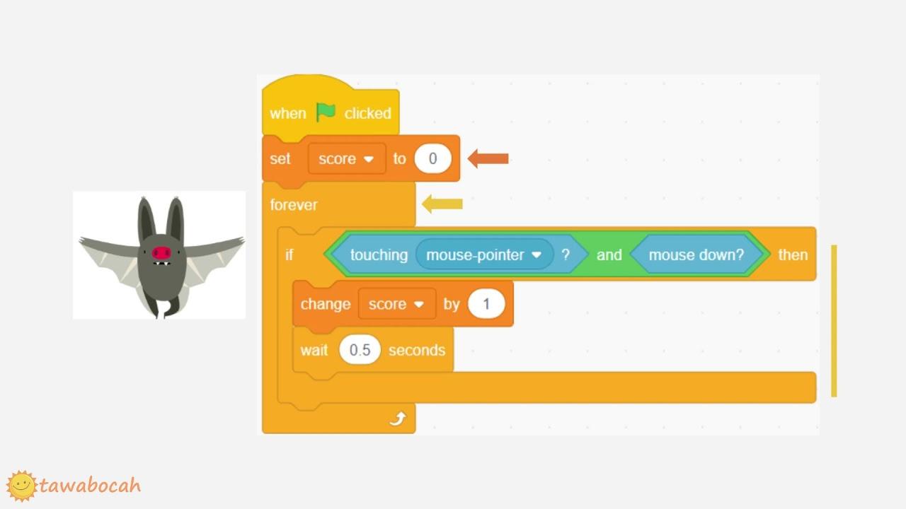 10 menit Belajar Scratch - Game Kelelawar (Coding untuk Anak)