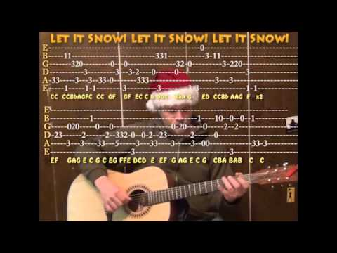 Let It Snow (Christmas) Solo Guitar Cover Lesson with TAB ...