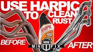 Use Harpic bleach to clean rust minifix vlog#2