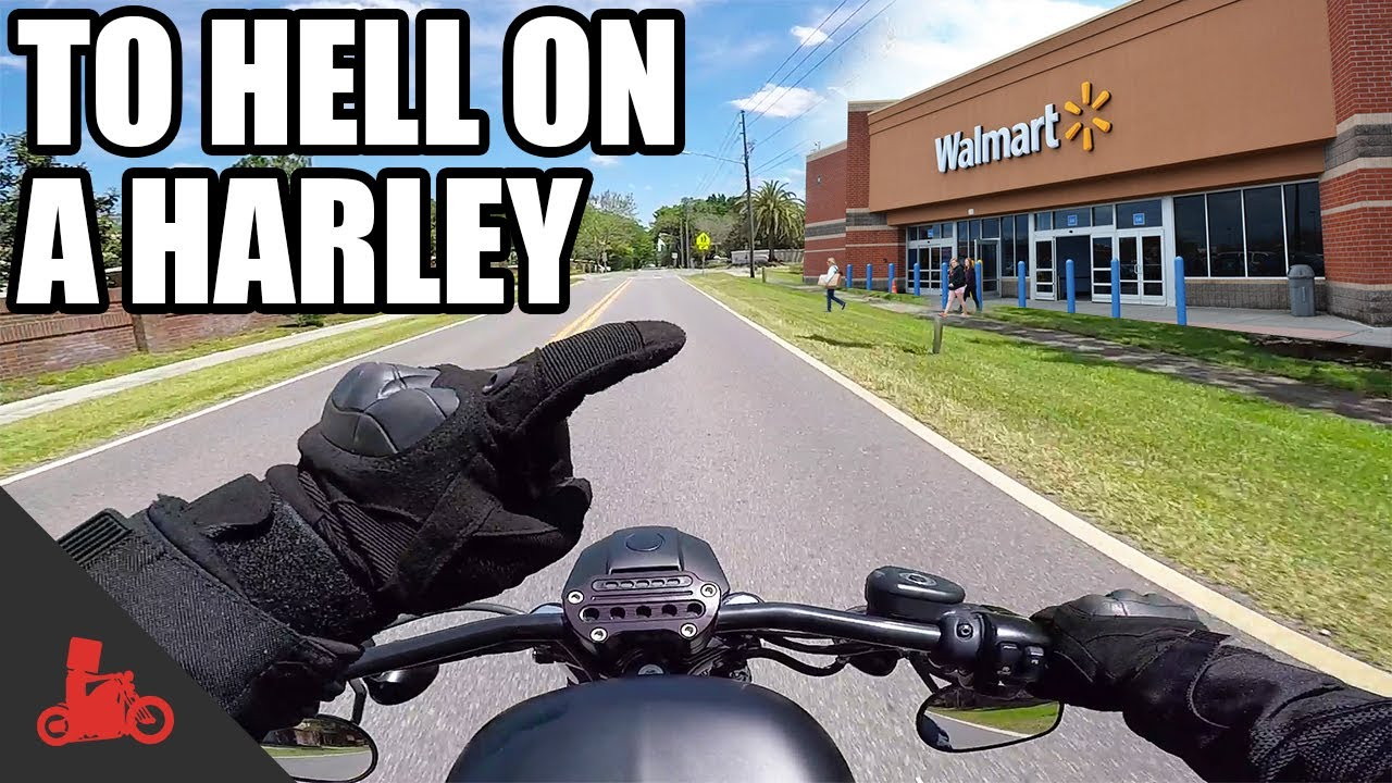 to hell on a harley - walmart, ugh - harley iron 883 - youtube