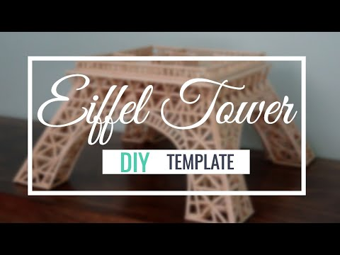 How to build an Eiffel Tower with wooden sticks Time Lapse - Part 1 of 3