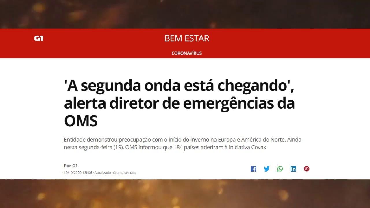 Resumo de notícias da semana | Drones serão usados | 2 onda | Meteoro cai na Bahia | V obrigatória