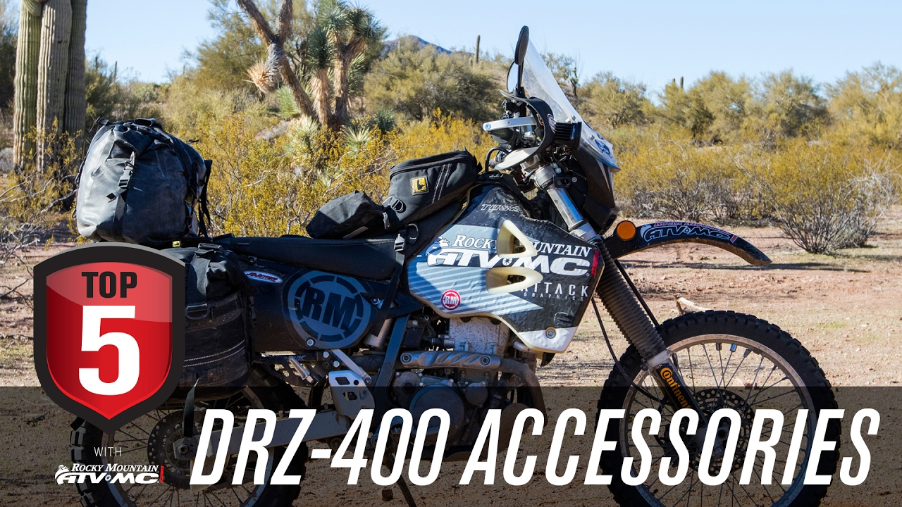 Top 5 DRZ 400 Accessories for Adventure Riding - YouTube
