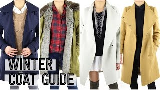 2015 Winter Coat Guide | Fashion Essentials Outfit Ideas Lookbook | Miss Louie
