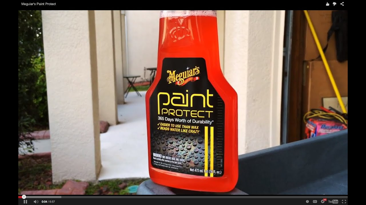 Meguiar S Paint Protect Water Test Youtube