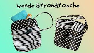 Strandtasche l Wendetasche l Shopper nähen - DIY-Tutorial l Nähanleitung