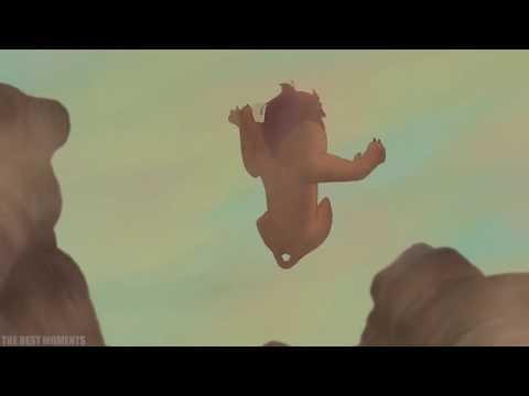 Король Лев.  Смерть Муфасы. Шрам убивает Муфасу