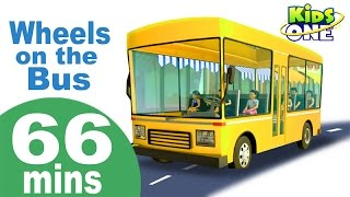 Wheels On The Bus Go Round and Round | Phonics Song & More Nursery Rhymes Collection for Kids
