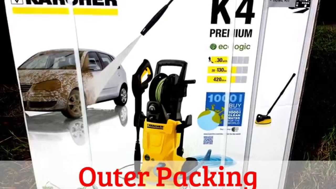 karcher k4 premium ecologic home pressure washer youtube. Black Bedroom Furniture Sets. Home Design Ideas