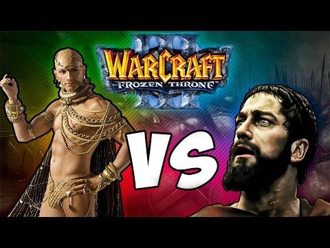 Warcraft 3 Frozen Throne - Карта 300 спартанцев ПОЛНОЕ совместное прохождение!