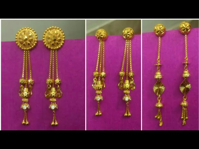 LATEST SUIDHAGA DESIGNS GOLD WITHOUT STONES.PLAIN GOLD TOPS LATKAN DESIGNS.JEWELLERY JODHPUR.
