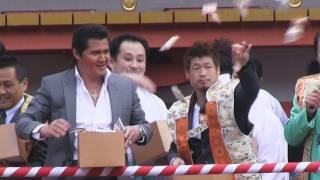 「節分」の3日、神戸市の湊川神社と生田神社で「豆まき神事」が行われ...
