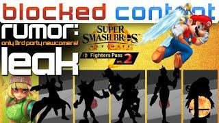 RUMOR: ALL Smash DLC Fighters LEAKED For Fighters Pass 2 + SUPER MARIO SUNSHINE 2 Leak - LEAK SPEAK!