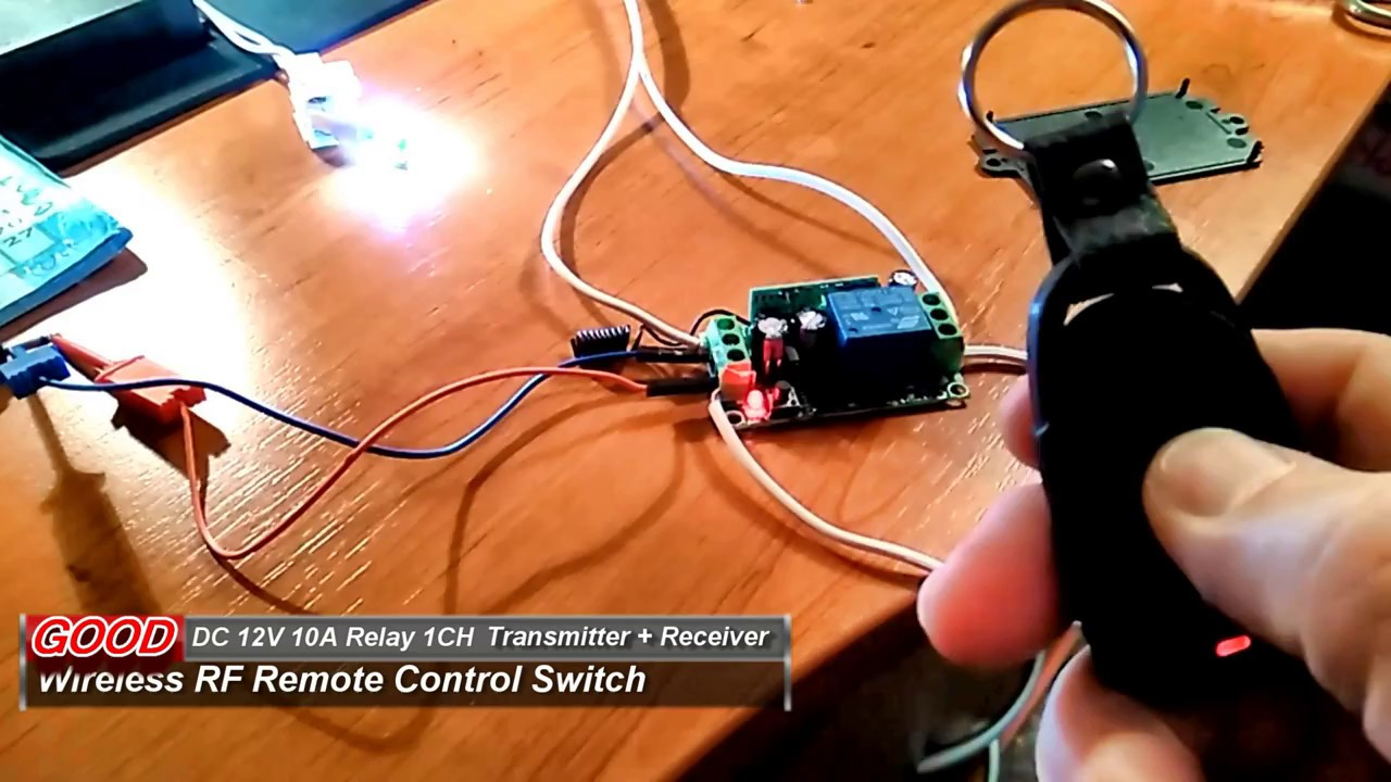 Wireless RF Remote Control Switch Transmitter Receiver YouTube - Simple Wireless Relay Switch