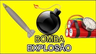 Som de BOMBA Míssil caindo do céu Explosões Bomba Relógio