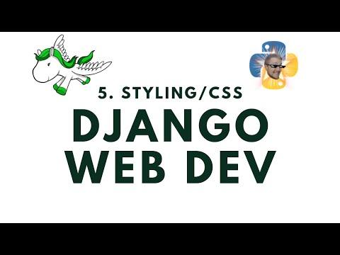 Styling w/ CSS - Django Web Development with Python p.5