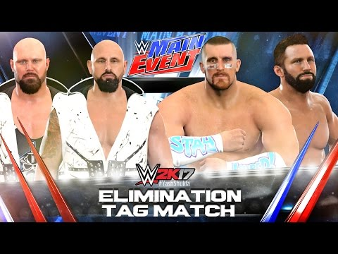WWE 2K17 Karl Anderson Luke Gallows vs Mojo Rawley Zack Ryder | ELIMINATION TAG MATCH