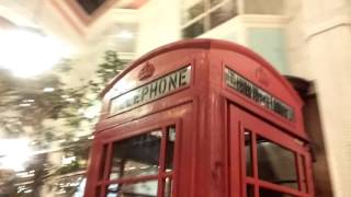 Old British style phone booth