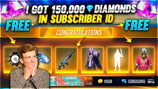 I Got 40,000 Diamonds & Dj Alok Titan Scar And All Emotes In Subscriber Id 😍 - Garena Free Fire