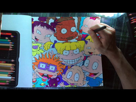 Color With Me - Episode 22 - The Splat: Coloring The '90s (Nickelodeon) -  Time-Lapse - Prismacolor - YouTube