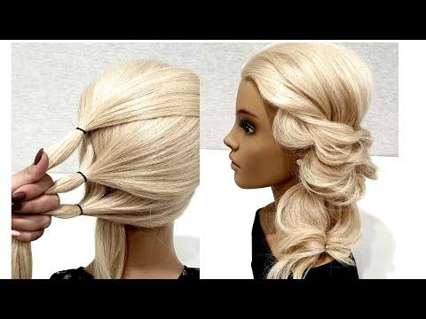 Прическа из Резинок. Простой вариант сделать СЕБЕ. Fast Hairstyle. A Simple option to do it YOURSELF thumbnail