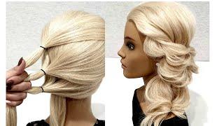 Быстрая прическа из Резинок. Просто сделать СЕБЕ! Fast Hairstyle. Just Make Yourself!