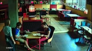 Комплект видеонаблюдения AHD для кафе.  Пример записи(, 2015-09-07T07:37:37.000Z)