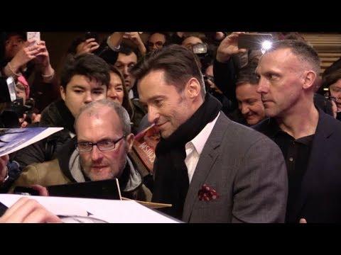 EXCLUSIVE : Hugh Jackman attending The greatest showman premiere in Paris