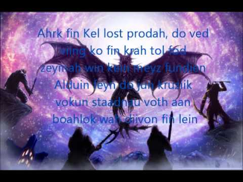 Skyrim: Sovngarde Song (Lyrics)