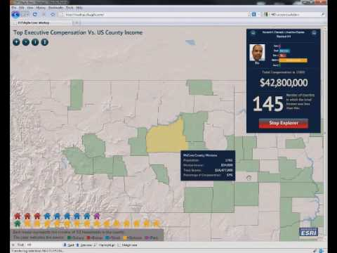 Executive Compensation Mashup (ESRI Mashup Challenge 2010)