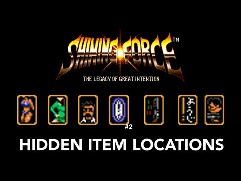 Shining Force Hidden Item Locations (PAL Megadrive)