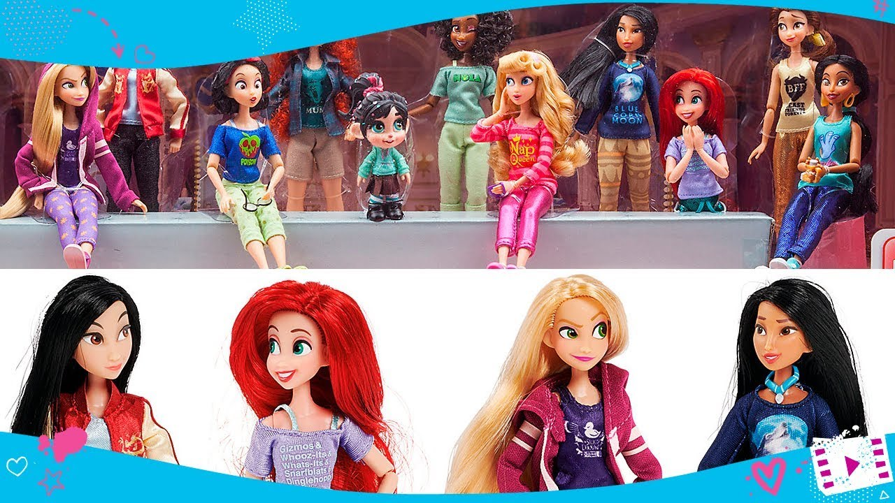 Almost All Disney Princesses Ralph Breaks The Internet Dolls In 13 Piece Doll Set Youtube