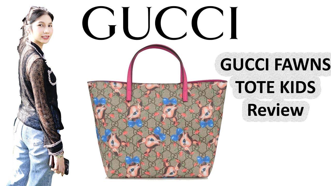 59d507f05f10 รีวิวกระเป๋ากุชชี่ Gucci Kid Fawns Tote - YouTube