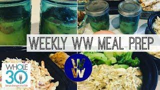 Weekly Ww Meal Prep | Egg Mug Cups, Buffalo Meatballs, Coleslaw