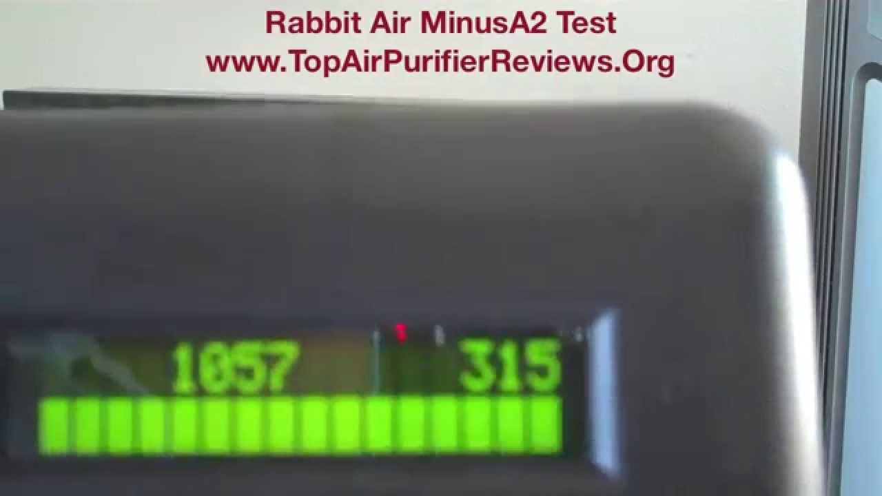 Rabbit Air Minusa2 Purifier Test Youtube