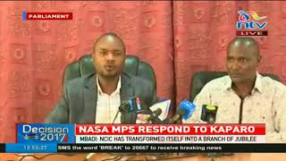 NASA MPs respond to NCIC statement saying the body is a Jubilee branch