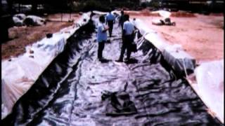 Geotextile Tube Installation - Waste Water Lagoon Application