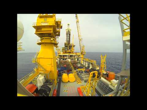 Oil Rig Time lapse Tender Barge