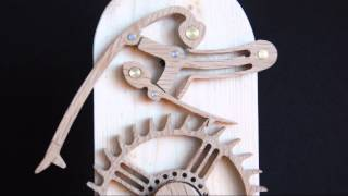 Brian Law's Woodenclocks - Grasshopper Escapement Prototype
