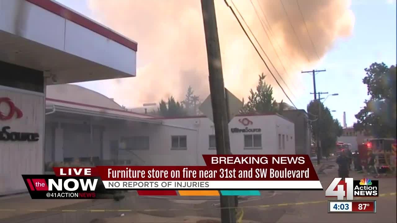 Three Alarm Fire Engulfs Furniture Warehouse On Southwest Boulevard