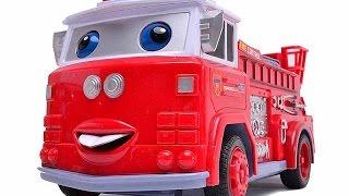 Развивающие уроки и мультфильмы для детей. Пожарная машина и вертолет