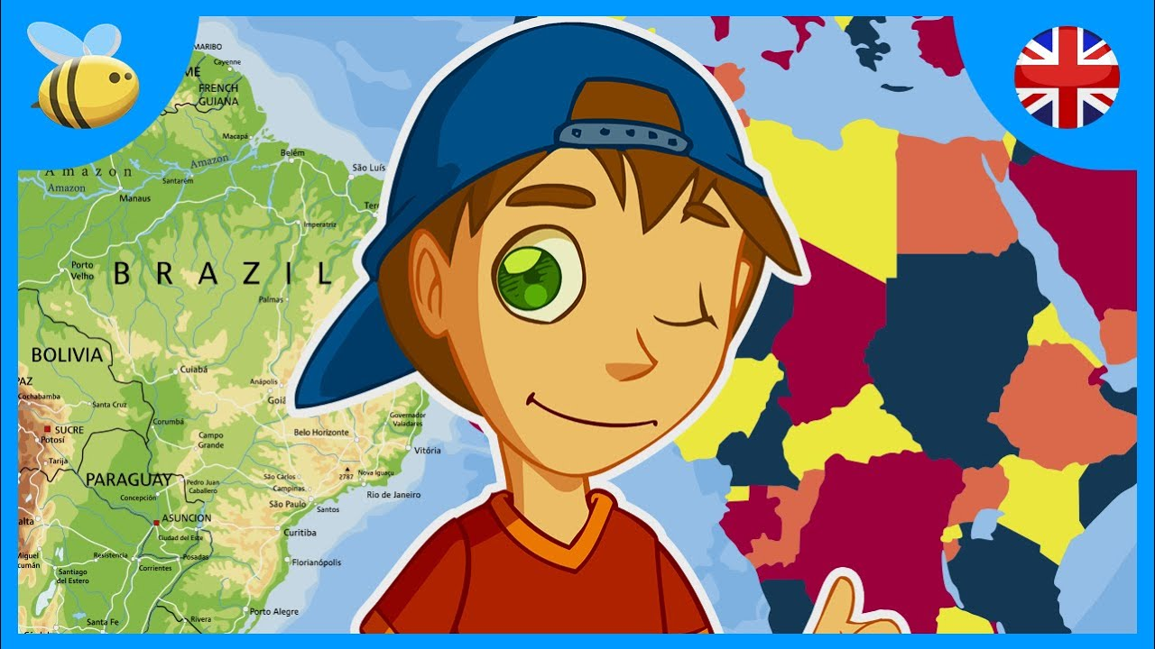 hight resolution of Maps of the World: Physical and Political Maps (Part 1)   Kids Videos -  YouTube