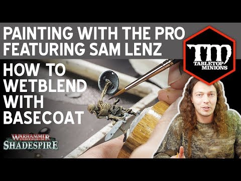 How to Wetblend With Your Basecoat - Painting With the Pro