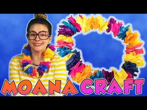 DIY Lei Inspired by Moana!  Arts and Crafts with Crafty Carol