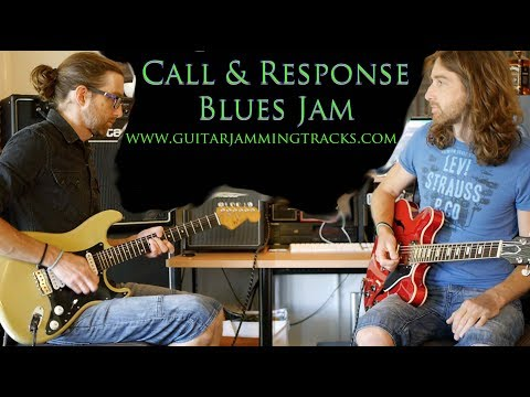 Blues Guitar Call and Response Jam in C with Danny and Dan