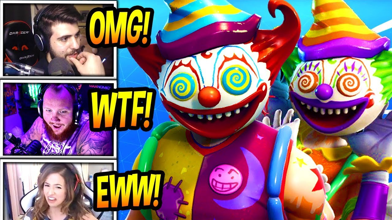 streamers-react-to-scary-killer-clown-skins-creepy-fortnite-funny-savage-moments