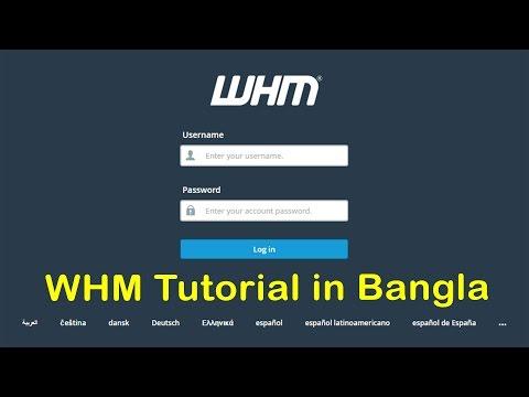 WHM Tutorial in Bangla (Reseller Hosting in bangladesh)