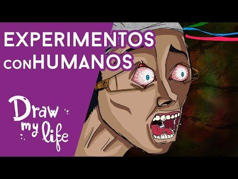 Los PEORES EXPERIMENTOS CON HUMANOS - Draw My Life