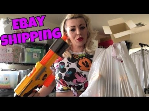 Sold! ( Part Time EBAY seller ) SHIPPING 7+ lb. NERF GUN LOT on eBay | How much did it cost to ship?